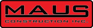 Maus Construction Inc. Roofing Siding & Gutters Logo
