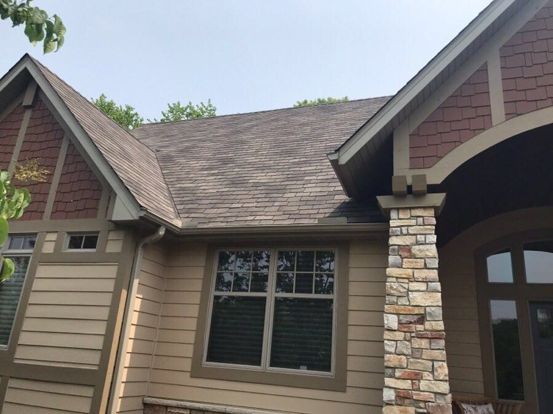 Lakeville roofer Maus Construction's roof replacement project after photo