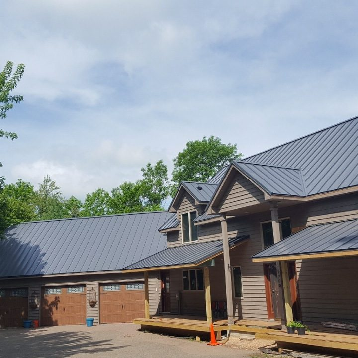 Newly Installed Metal Roof on a Home